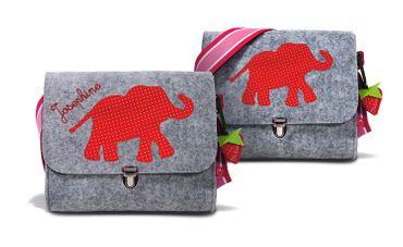 Filztasche Elefant Erdbeer – Bild 1