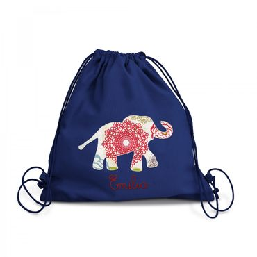 Turnbeutel Elefant Indien – Bild 1