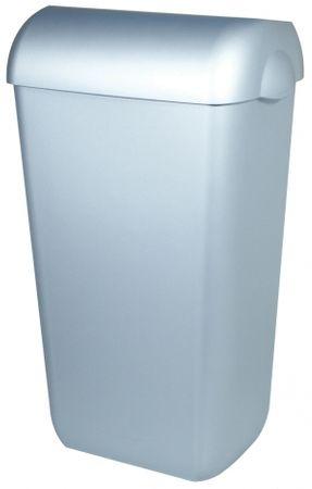 Abfallbehälter Kunststoff Edelstahl Optik 23 Liter offen