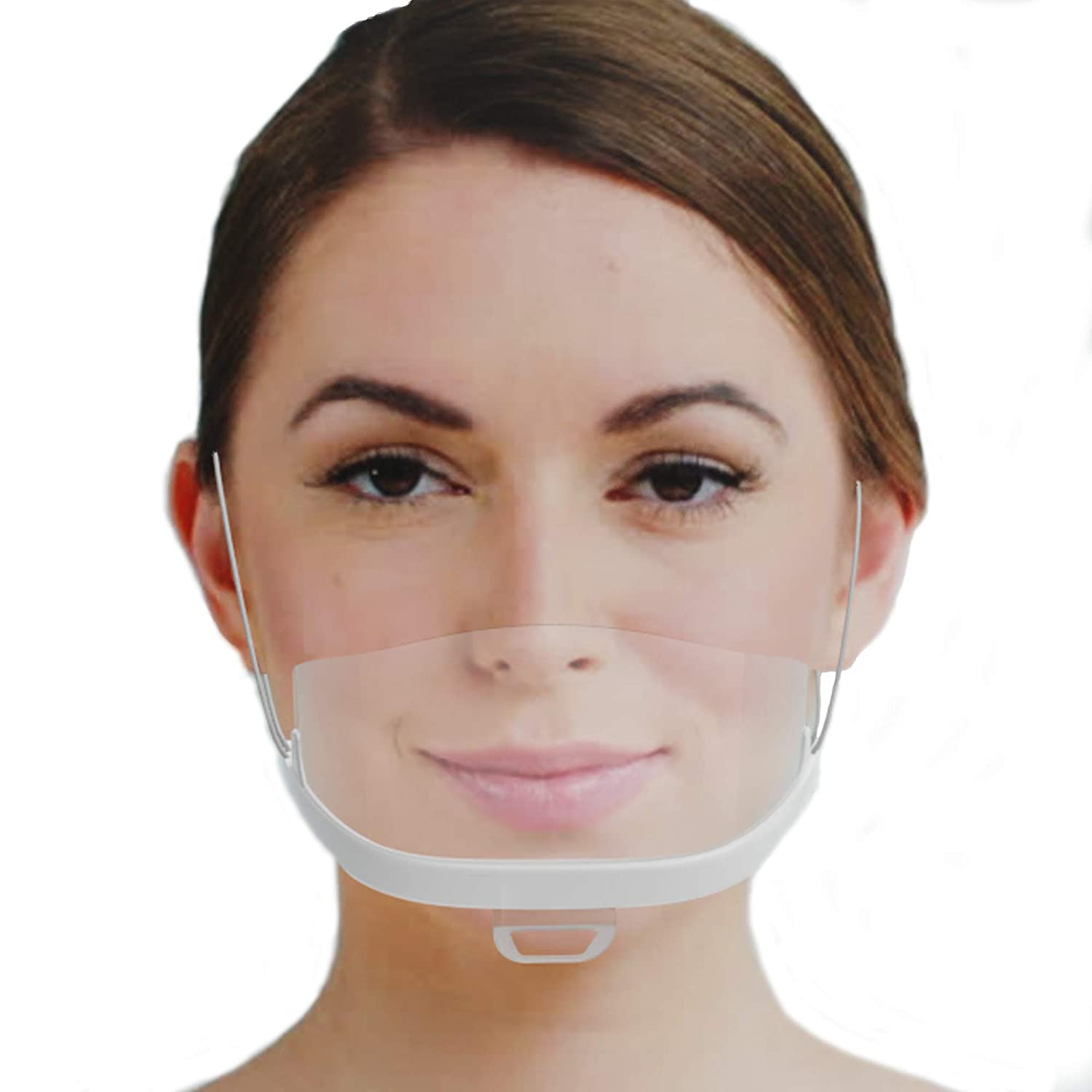 10 x plastic face visor   protective visor in white   universal face protection   visor to protect against liquids   Face Shield for mouth nose
