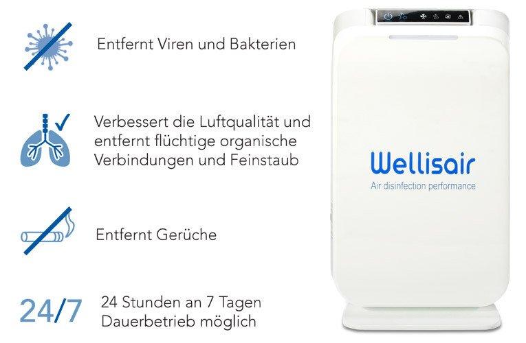 Wellisair - air/surface disinfection