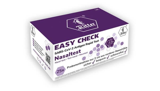 RITTER® Easycheck Antigen Nasal Test in practical display box - 20 pcs.