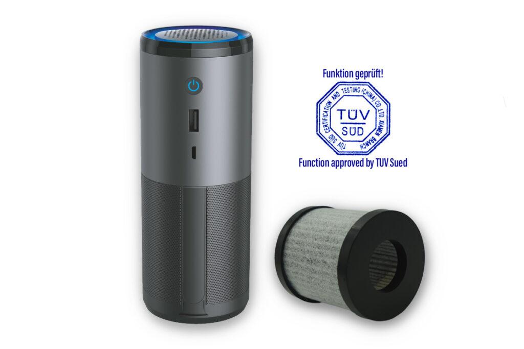 CarClean - Mobiler Luftreiniger - TÜV geprüft