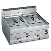 Gas-Friteuse 2x10 L 13,8 KW Tisch-Fritteuse