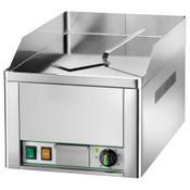 prismafood Griddleplatte/Bratplatte FRY 1 L, Elektro, Stahl, glatt