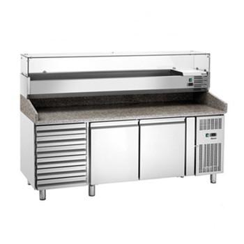 Foto Bartscher Pizzakühltisch GL26640 mit Kühlaufsatz 1