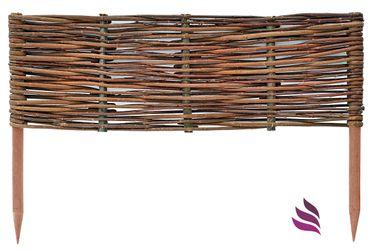 Floranica® Beeteinfassung: 1 Element 10 cm hoch - Steckzaun in 25 Größen, Rasenkante, Weidenzaun - imprägniert mit Buchepflöcke – Bild 5