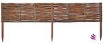 Floranica® Beeteinfassung: 1 Element 40 cm hoch - Steckzaun in 25 Größen, Rasenkante, Weidenzaun - imprägniert mit Buchepflöcke