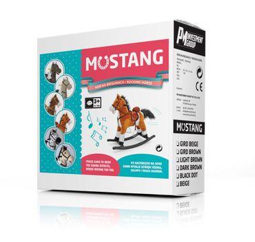 Classic, Schaukelpferd Mustang, Wipppferd aus weichem Plüsch - macht Pferdegeräusche – Bild 4