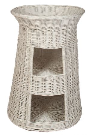 Floranica® Superior Three Tiers Wicker Cat Tower Bed Basket House + cushions, organic willow product, made in the EU – image 6