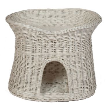 Floranica® - 2 Sizes (L o XL) Wicker Cat Tower Two Tier Bed Basket House + cushions, organic willow product, made in the EU – image 3