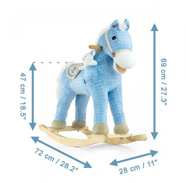 Soft Rocking Horse in rosa and violett Rocking animals Rocking toys with sound effects Rocking horse – image 18