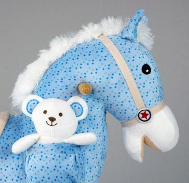 Soft Rocking Horse in rosa and violett Rocking animals Rocking toys with sound effects Rocking horse – image 10