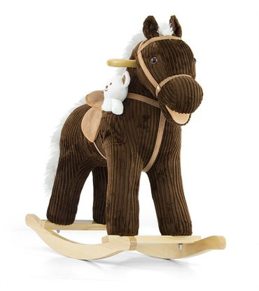 Soft Rocking Horse in rosa and violett Rocking animals Rocking toys with sound effects Rocking horse – image 4