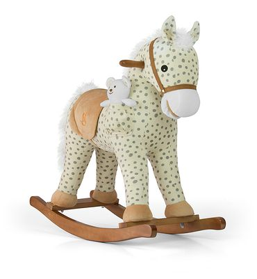 Soft Rocking Horse in rosa and violett Rocking animals Rocking toys with sound effects Rocking horse – image 7