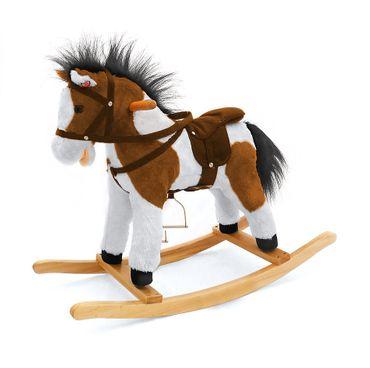 Classic Schaukelpferd Wipppferd aus weichem Plüsch - macht Pferdegeräusche – Bild 2