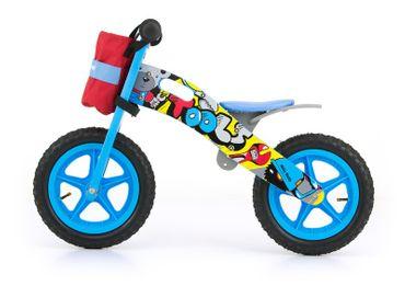 Kinder Laufrad aus Holz mit Lenkertasche und Werkzeug, Rädern mit Luftreifen (Ventil), 12 Zoll – Bild 2