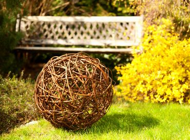 Floranica® Willow ball, willow decoration ball, vine ball, garden decoration in 5 different sizes – image 2