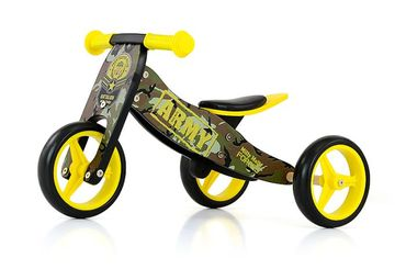 JAKE Bicycle two in one tricycle and ride-on bicycle made from wood, kid's vehicle with foam wheels – image 6
