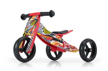 JAKE Bicycle two in one tricycle and ride-on bicycle made from wood, kid's vehicle with foam wheels – image 5