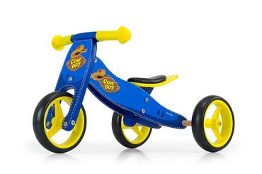 JAKE Bicycle two in one tricycle and ride-on bicycle made from wood, kid's vehicle with foam wheels – image 1