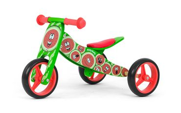 JAKE Bicycle two in one tricycle and ride-on bicycle made from wood, kid's vehicle with foam wheels – image 19