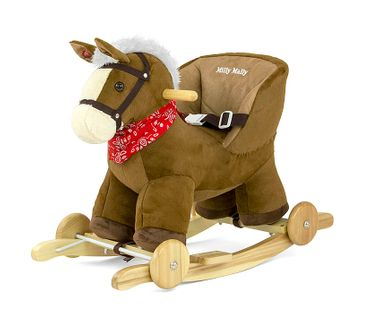 POLLY 2in1 soft and cuddly rocking horse hobbyhorse plush rocking animal rocking toy in 9 colors with sound effects for small children (12 months +) – image 2