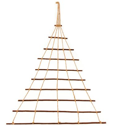 Floranica® Natural, hand-made decorative ornaments, window decoration, tree made from willow with jute thread, with or without lights – image 1