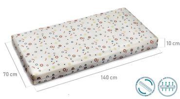 BestCare® - Ultra Fresh, antibakterielle Babymatratze Kinderbettmatratze mit 3D-Matte, EU Produkt, antiallergisch atmungsaktiv,  2-seitig (Winter/Sommer) Gesamthöhe 10 cm, – Bild 5