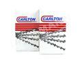 2x CARLTON Halbmeißel Sägekette 325  38 cm für HUSQVARNA 359