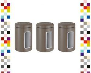 WESCO 321206-57-3 Set Vorratsdose Classic Line Rund WARM GREY Keksdose Kaffeedose