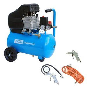 GÜDE Druckluft Kompressor 210/08/24 24 Liter Ölschmierung 4 teilig