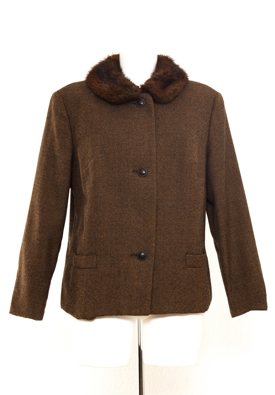 163d4b44377e Majestic Bisam Jacke Gr. 42 Wolle Damen Blazer Übergangsjacke Jacket ...