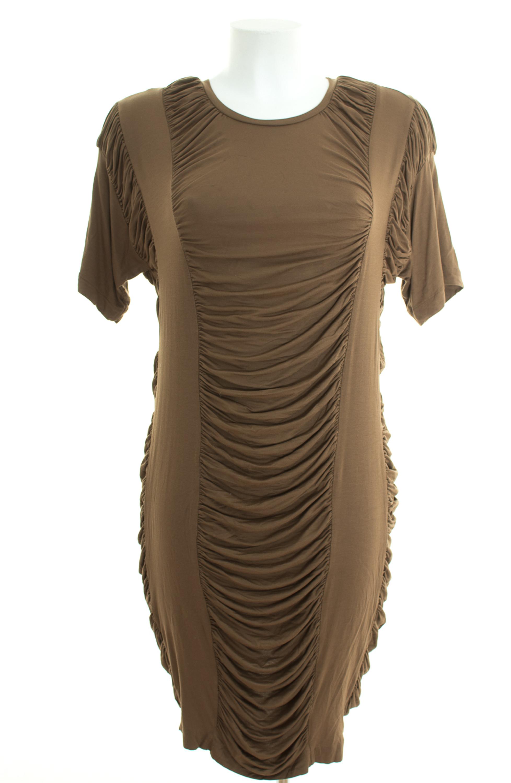 Cos Kleid Gr Xs Stretchkleid Shirtkleid Jersey Dress Robe Braun Ebay