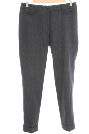 WEEKEND Max Mara Hose Gr. DE 40 Damen Stretchhose Cigarette Pants Anthrazitgrau