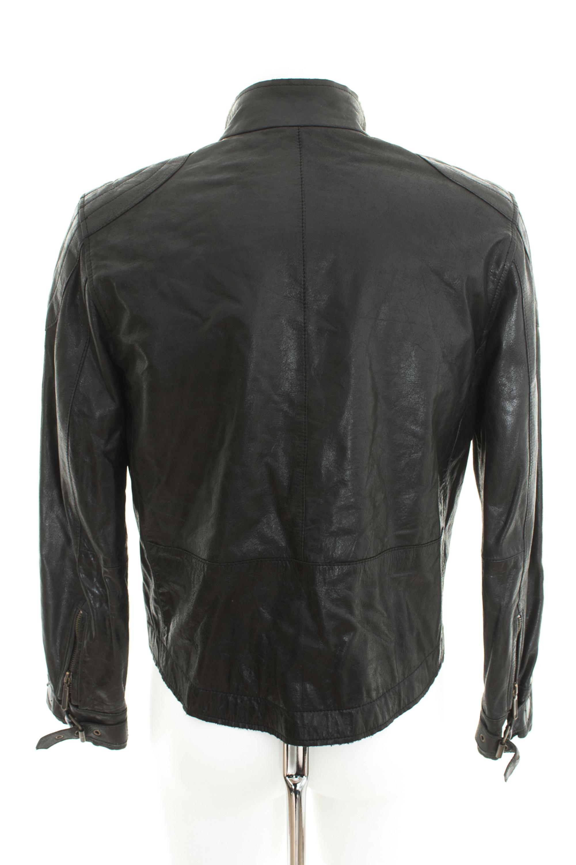 46bec6957b131f ... Damen Lederjacke Gr DE 44 Jacke Übergangsjacke Leather Jacket Schwarz  Leder ...
