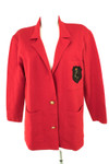 Laurel Strickjacke Cardigan Wolle Baumwolle Damen Gr. DE 36 in Rot