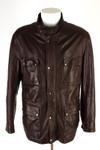 Tom Rusborg Jacke Gr. 52 Echtes Leder Übergangsjacke Lederjacke Parka Jacket