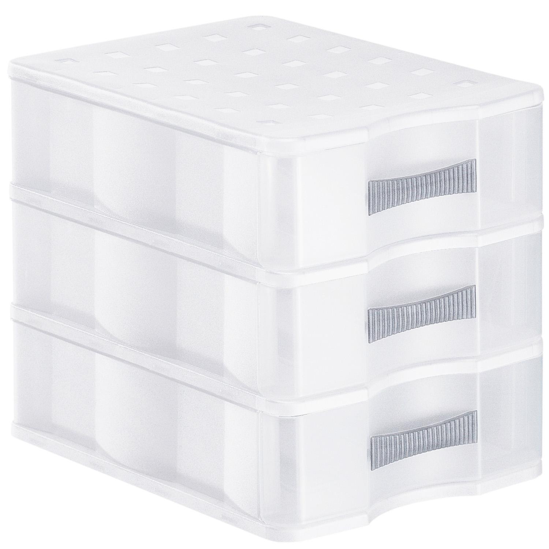 Schubladenbox A5, 3 Schübe QUADRIX