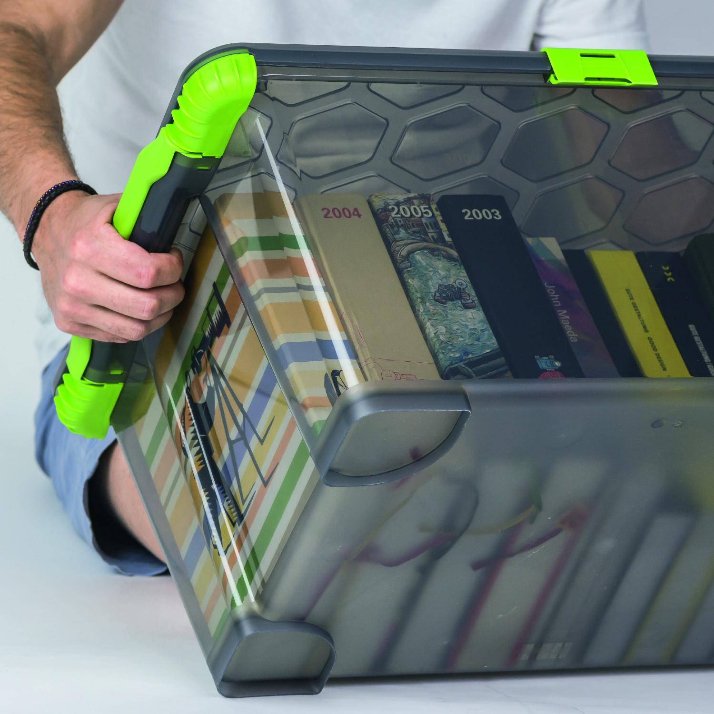 Rotho Aufbewahrungs-Boxen Set Ordnungs-Körbe Lager-Kisten stapelbar stabil
