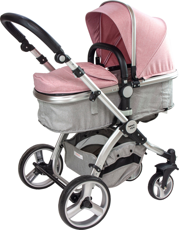 Zusammenklappbar Buggy ib style/®SUPREME 2 in 1 Kinderwagen Sitzrichtung verstellbar  0-15kg  Blau