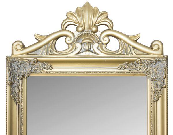 Wandspiegel mit verziertem Rahmen Schwarz – Bild 2
