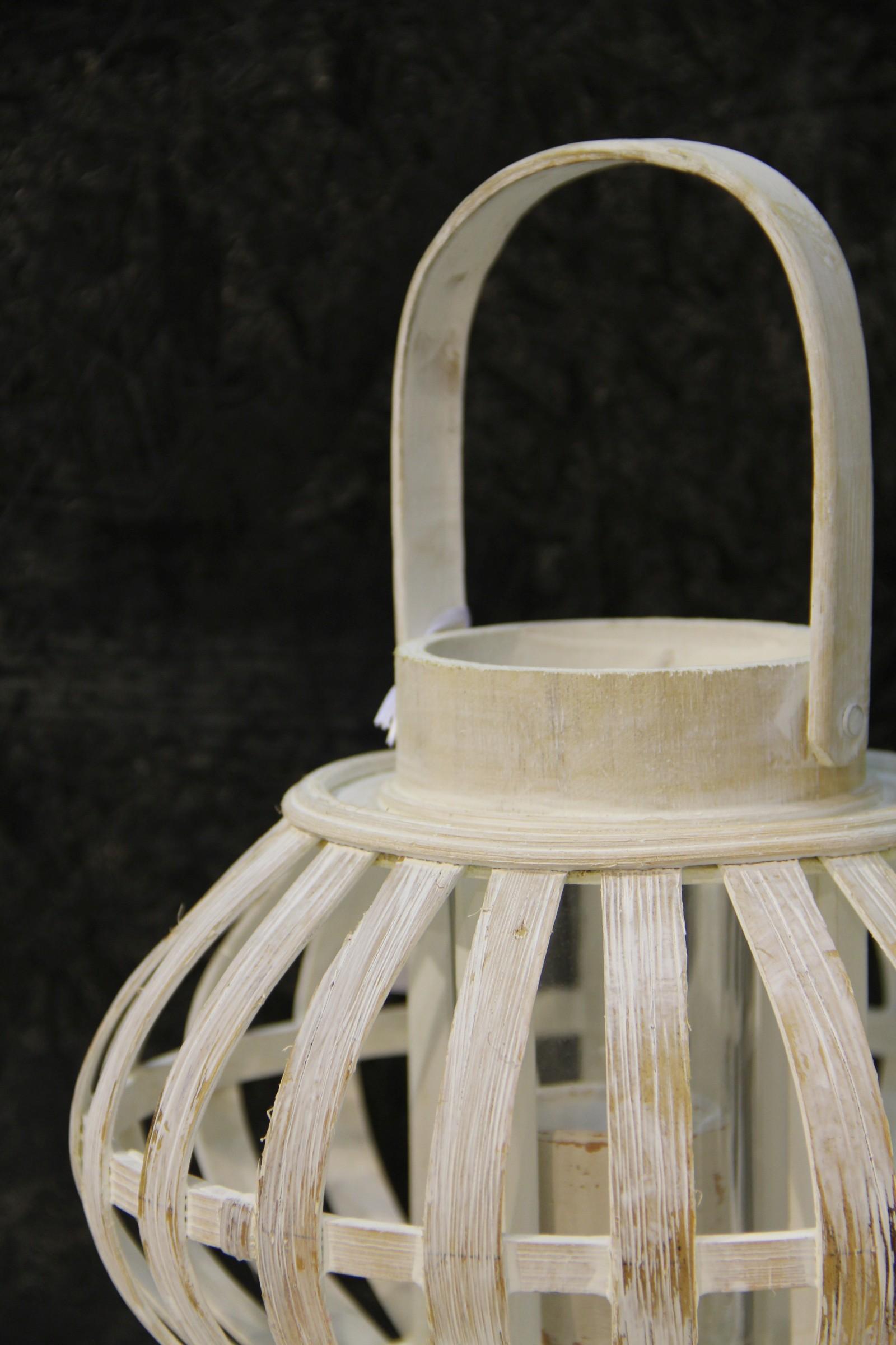 bambus laterne holz rustikal shabby mittel klein rund. Black Bedroom Furniture Sets. Home Design Ideas