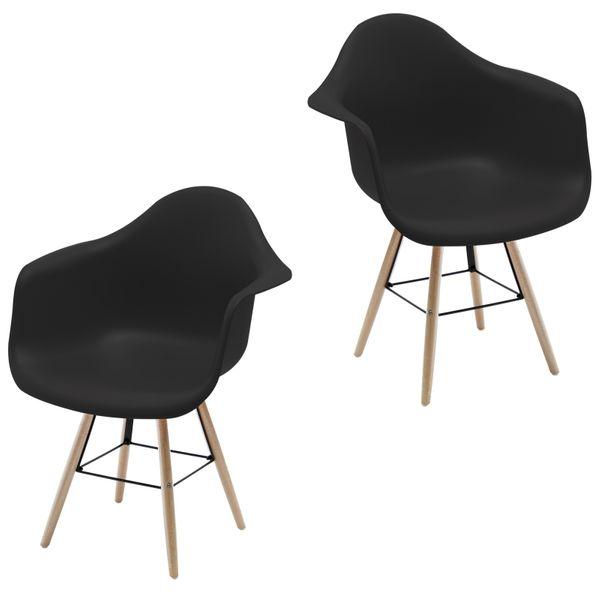 Retro Sessel Regie Schalenstuhl Pop Art Deco Esszimmer Stuhl Stühle Holz Vintage – Bild 15