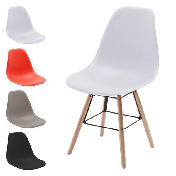 Retro Schalen-Stuhl Sitz Esszimmer-Stühle Plastik Vintage Sitzgruppe 2 4 Set – Bild 6