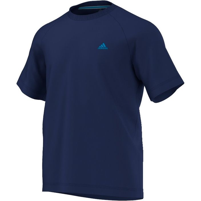 adidas Performance Herren T-shirt AESS 3S Crew Tee D89821 Night Blue Blau