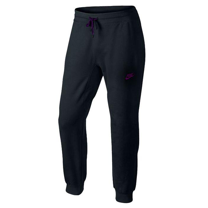 Nike Herren Baumwollhose mit Bündchen Normalgröße Jogginghose Hose Black/Hyper Grape