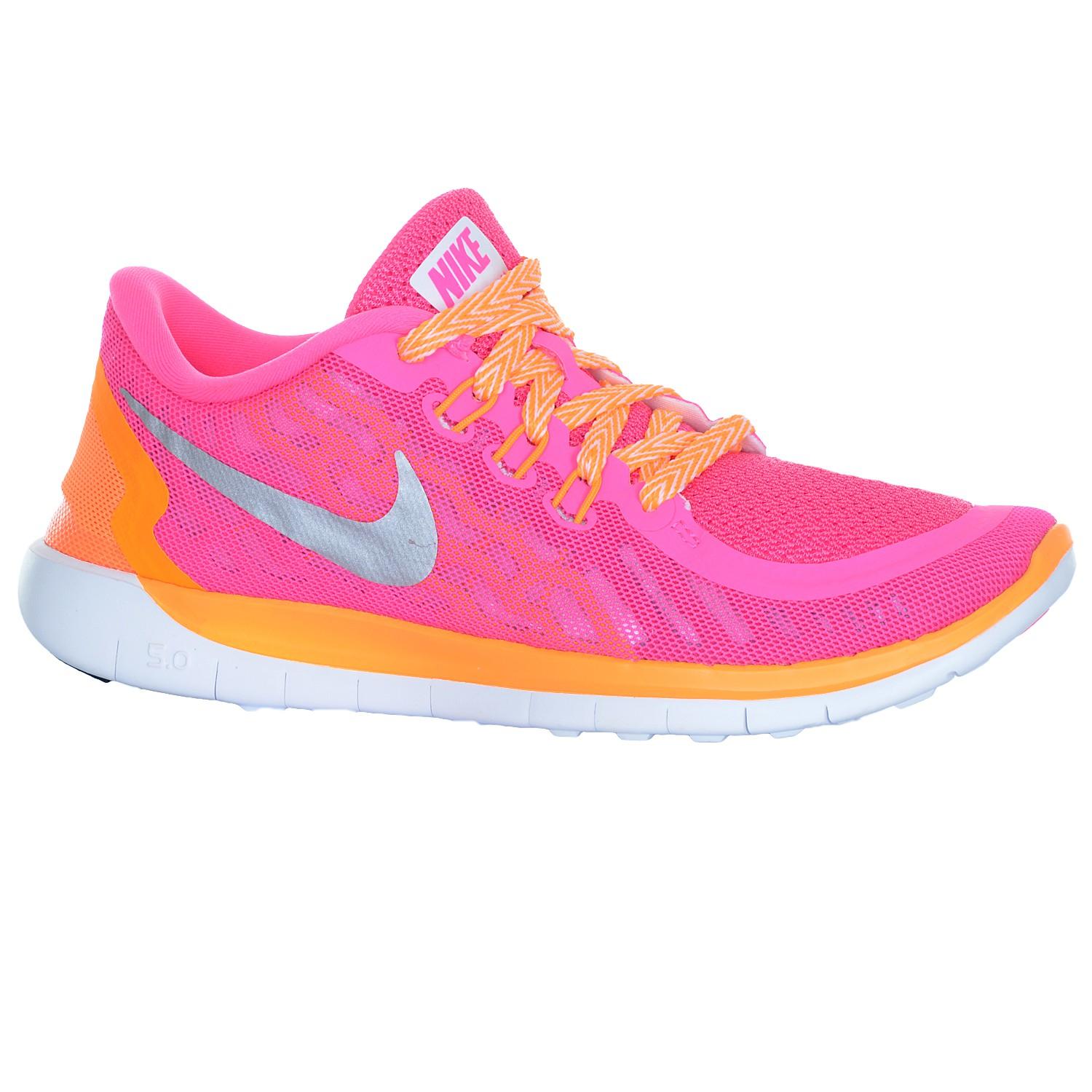 Nike Free 5.0 (GS) Federleichter Mädchen Laufschuh Kindersportschuh Pink Power Kids Schuhe Laufschuhe