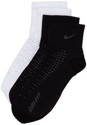 Nike Running Anti Blister Sneaker Socken Sportsocken 2er Pack Black/White