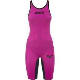 ARENA W Powerskin Carbon Air Full Body Short Leg Open Back Hochleistungsschwimmanzug Badeanzug Fuchsia Titanium Blue